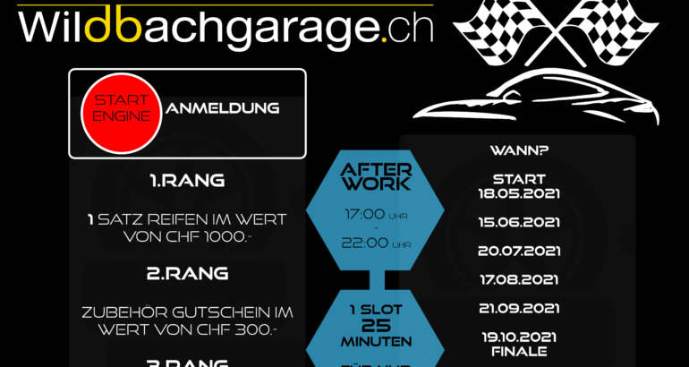 Tuesday AfterWork Racing: Wildbachgarage-Cup